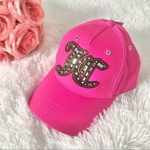 NWT JUICY COUTURE hat pink embellished cap